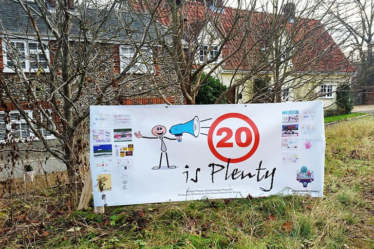 Intro Image - 20 is Plenty sign