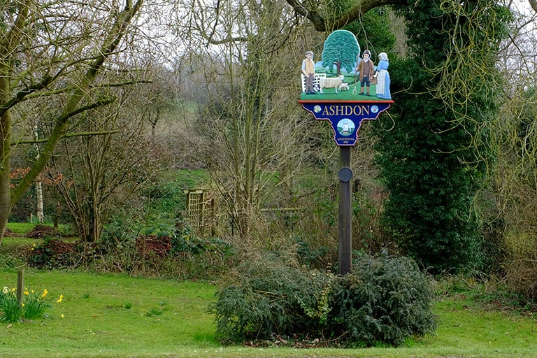 Intro Image - Ashdon Village Sign