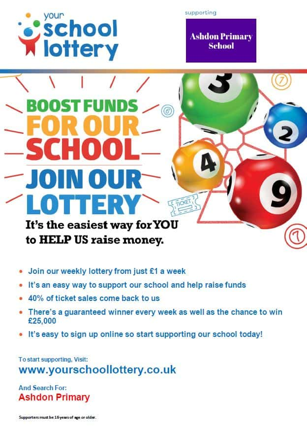 Ashdon School Lottery graphic
