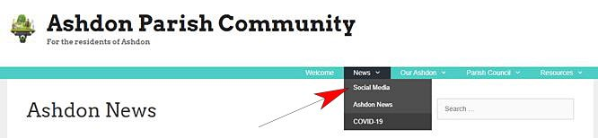 Social Media Menu Option Graphic