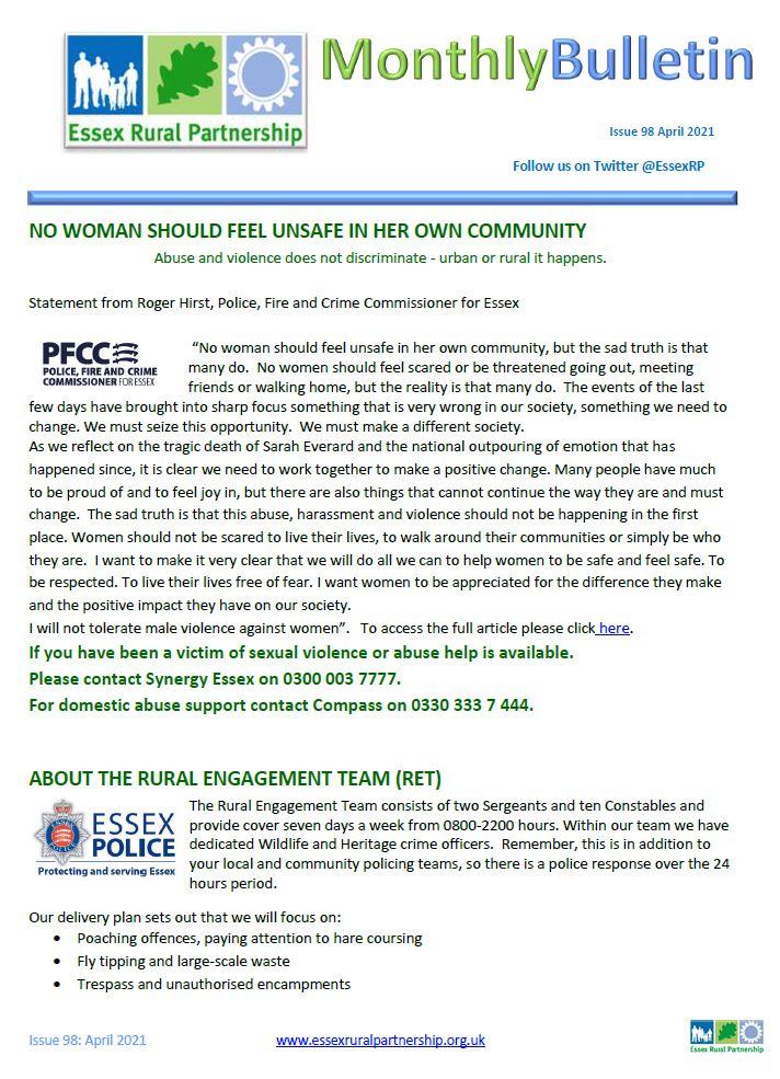 Essex Rural Partnership April 21 Front Cover