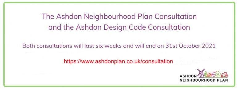 Ashdon Neighbourhood Plan - Consultation Dates Info